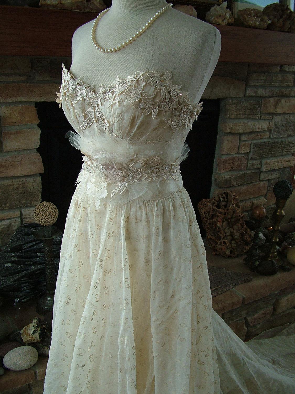 Wedding Dress 1930s Vintage Gown Restyled By RetroVintageWeddings