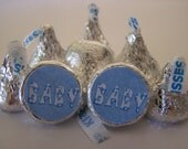 BABY BOY Hershey Kisses - 108 self-advesive stickers - Labels Only - Personalized favors Personalized party favors