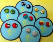 Cute and Flirty one-of-a-kind fabric covered button earrings