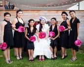 Black Convertible Bridesmaid Infinity Dresses