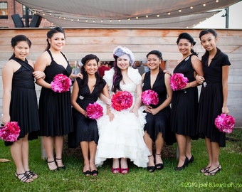 Black Convertible Bridesmaid Infinity Dresses
