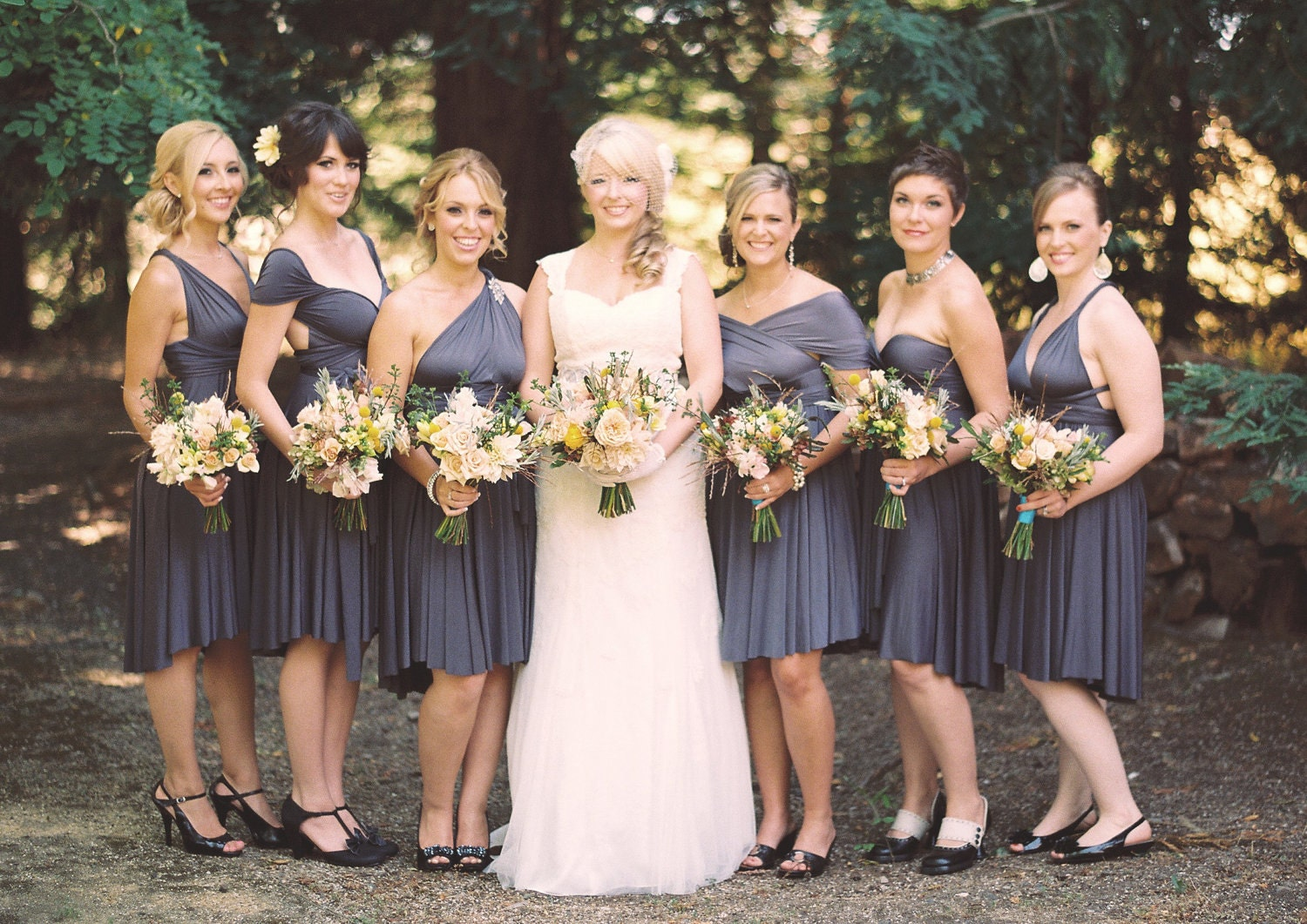 Wedding Grey Bridesmaid Dress grey bridesmaid dress etsy charcoal gray dress
