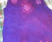 XL womens batik tank purple and pink