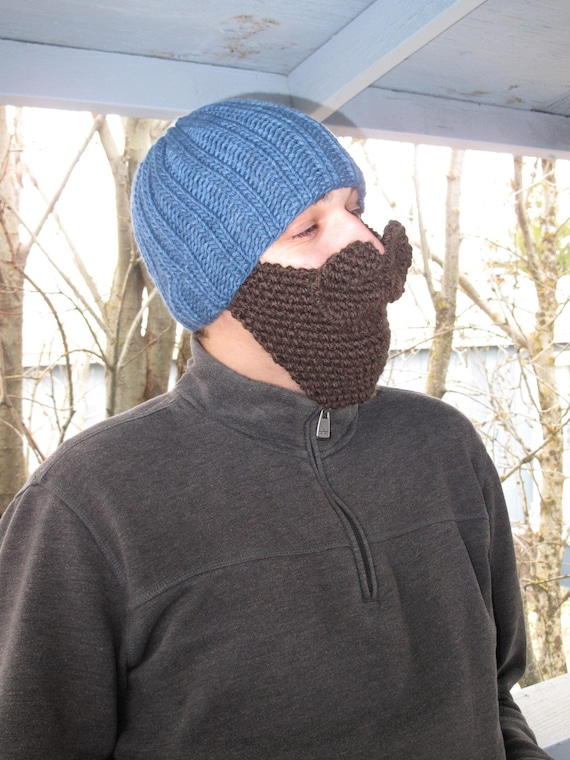 Knitting Pattern ONLY- Hat with beard and mustache pdf