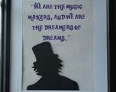 Willy Wonka Inspired Silhouette and Quote Picture Framed (Featured Item)