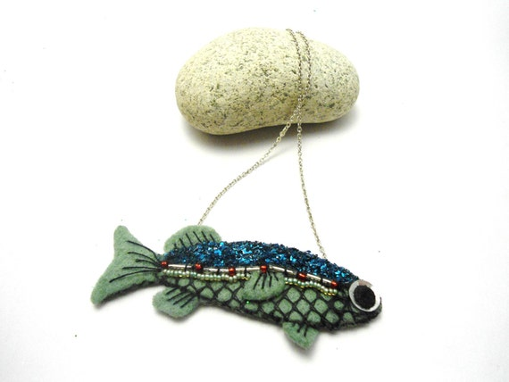 Green Fish Necklace.