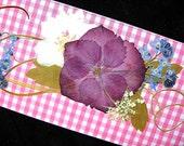 VALENTINES Real Flower Bookmark Love Friend Gift Pressed Flower Bookmark