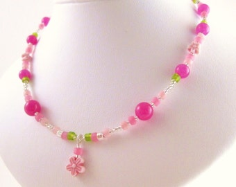 Medium Girls Necklace, Sterling Silver, GNM 101