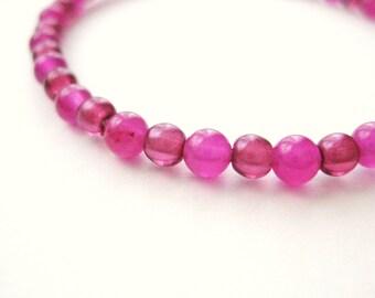 Girls Bracelet, Pink, Fuchsia and Dark Pink, Large Bracelet, GBL 161