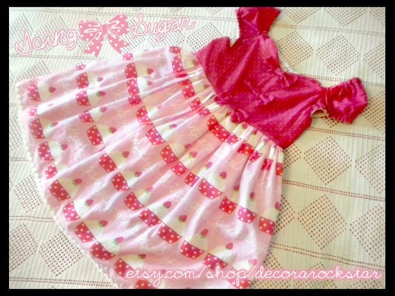 Pink and Red Cupcake One Piece Sweet Lolita Dress
