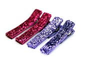 Glitter clips No Slip boutique hair clippies: set of 4 Glitter clips by Cabecitas Lindas on Etsy