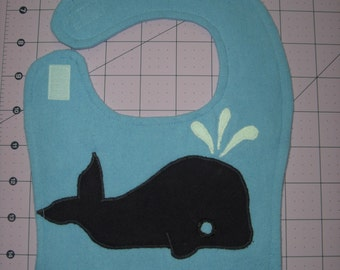 Sale! Whale Baby Bib
