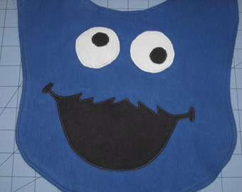 Cookie Monster Baby Bib Made to Order