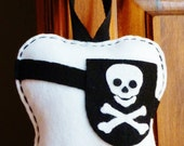 Handmade Personalized Pirate Inspired Tooth Fairy Pillow