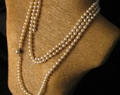 Vintage Pearl Necklace Sixty Inches Broken Strand