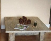 Square barnwood coffee table