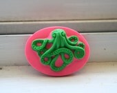 Limited Edition Neon Zombie Octopus 40mm x 30mm Loose Cameos- Set of Three