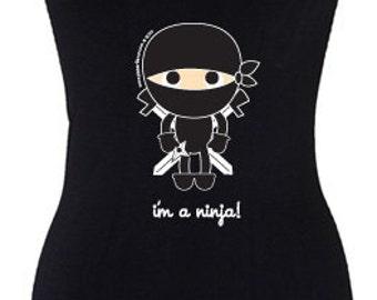 Black Ninja Womens Long Tank