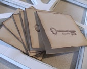 Custom Order for Kristina-Skeleton Key Discover Note Cards, Place Cards - blank (set of 18)