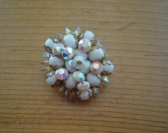 Vintage white brooch