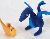 Leon the blue dragon, and his friend the Mudge