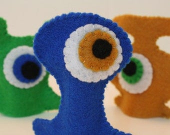Oggle Monster finger puppets - set of 3 - ON SALE