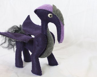 SALE - 50% OFF - Thar the gray and purple flying monster