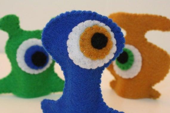 Oggle Monster finger puppets - set of 3 - ON SALE