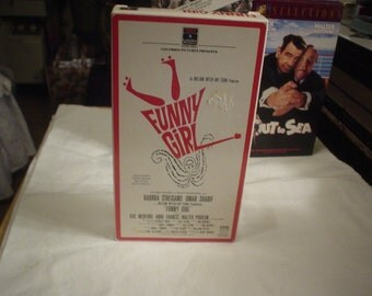 1985 VHS Funny Girl Barbara Streisand and Omar Sharif, Movie, VHS, Comic, Accessories, Eclectic, Victorian, Gypsy, Bohemian, Shabby Chic,