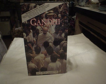 VHS 1982 Double Video Gandhi  9 Academy Awards, Movie, VHS, Bohemian, Shabby Chic, Victorian, Gypsy, Exotic, Accessories, Eclectic, Antique