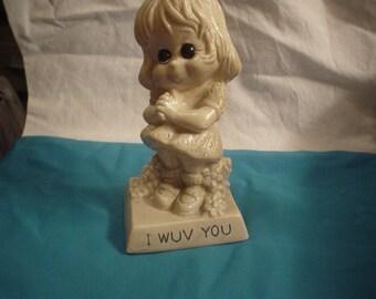 1973 Little Girl I wuv you Award, Victorian, Shabby Chic, Bohemian, Gypsy, Hippie, Unique, Romantic, Classic, Accessories, Renaissance,Retro