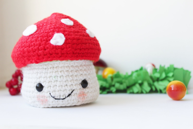 Amigurumi Mushroom Crochet Patterns : Amigurumi Mushroom jewelry box The Sun and the Turtle