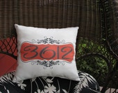 Personalized porch pillow address patio sunroom