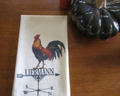 Personalized Rooster towel