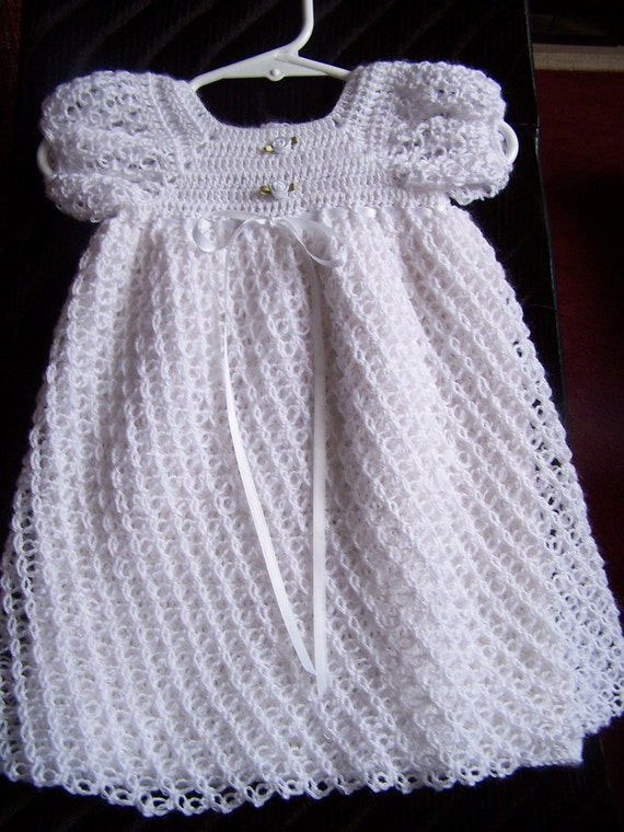 Lacy Little Christening Gown