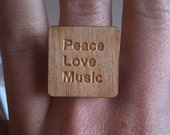 Peace, Love, Music Ring