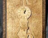 Titanic Honour and Glory Wood Clock