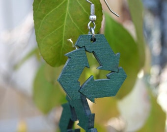 Reduce, Reuse, Recycle Earrings