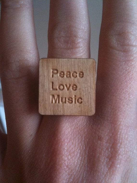 Peace, Love, Music Ring