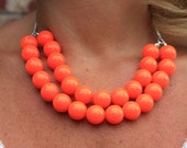 NEON  Statement Bib Necklace- Many colors to pick from
