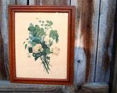 Vintage Botanical Print Framed - Shabby Chic Beautiful Bouquet by OrangiesAttic on etsy