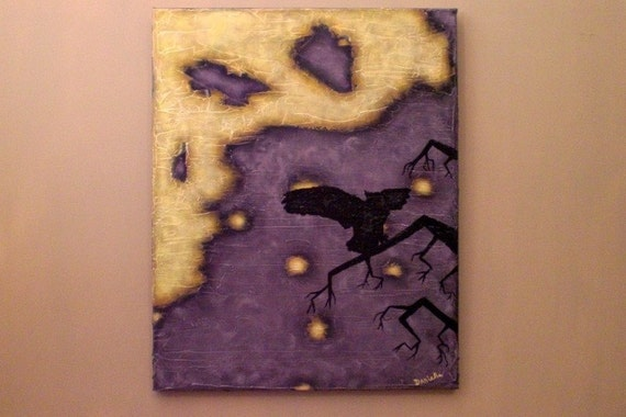 SALE - 50% off - The Hunt 16x20 Textured Acrylic Painting on Canvas