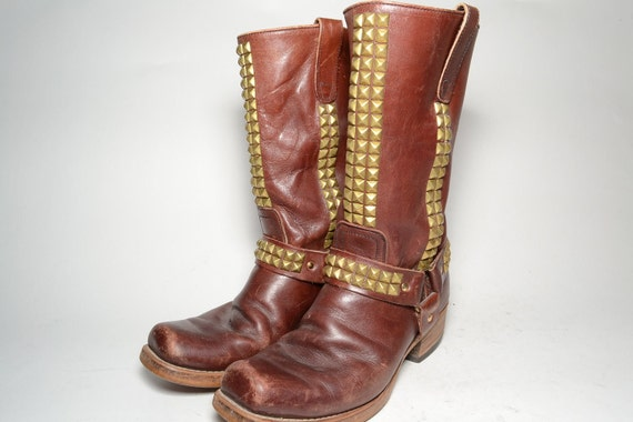 Studded Mens size 10 Motorcycle Harness boot