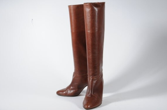 Tall Size 5 Italy Leather Boots Euro Size 34
