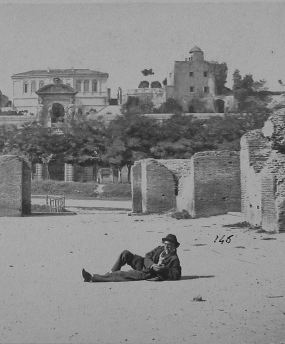 Rome Palazzo Cesarini and the Orti Farnesiani CDV photograph