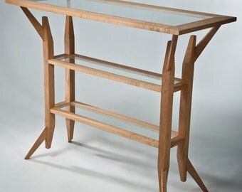 """1 """"Stanstead"""" sofa table in curly maple"""