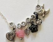 Enchanted Dream Charm Necklace - Rose Garden