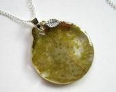 Green Goddess - Leaf Lace Necklace