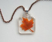 Maple Leaf - Real Autumn Leaf Necklace