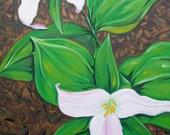 Trillium flower painting